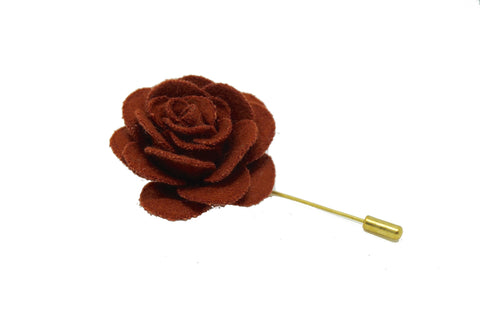 Lapel Pin Rose Maroon