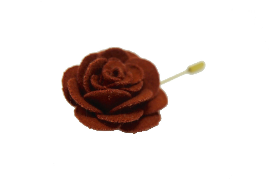 Lapel Pins - Lapel Pin Rose Maroon - The Little Link
