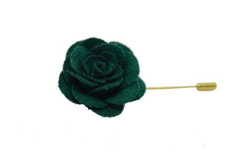 Lapel Pin Rose Emerald