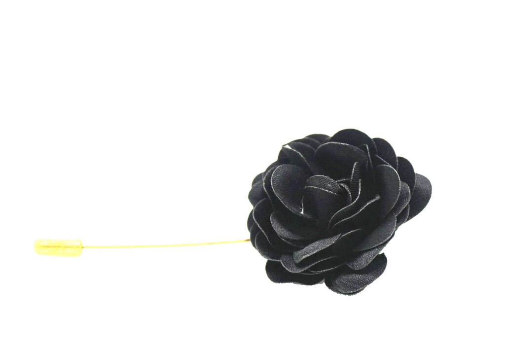 Ebony Lapel Pin Rose Boutonniere