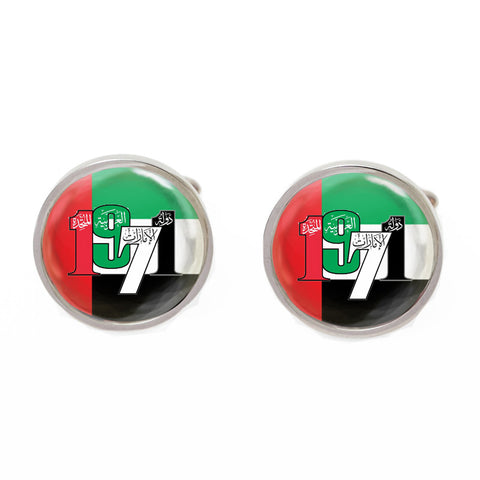 Red and Green Flag Cufflinks - UAE Independence