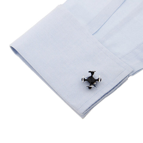 Silver Drone Novelty Cufflinks