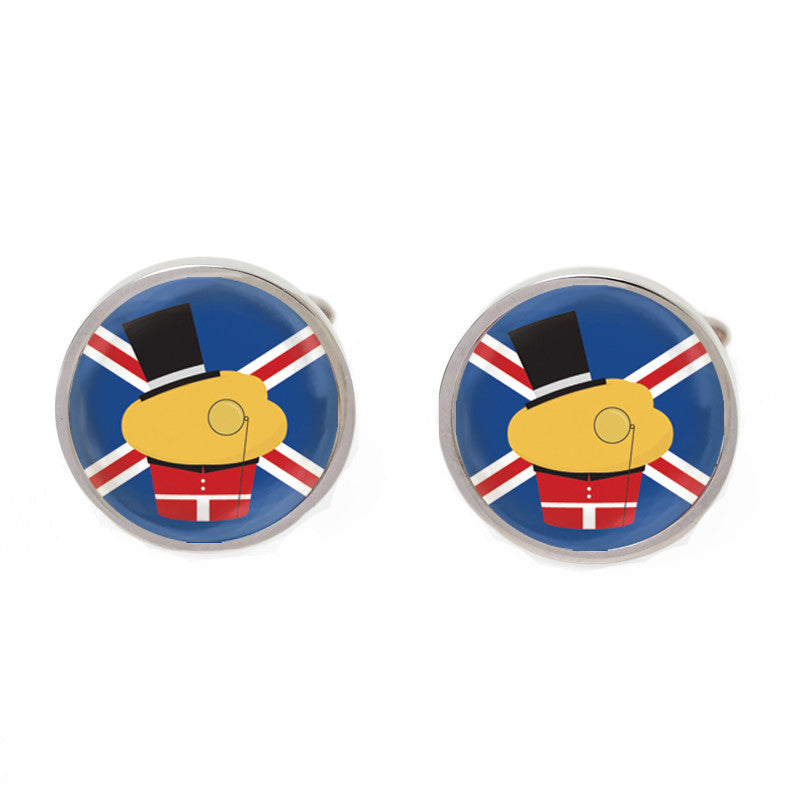 Novelty Cufflinks - English Muffin - The Little Link
