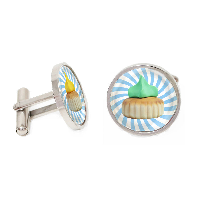 Novelty Cufflinks - Gem Biscuits - The Little Link