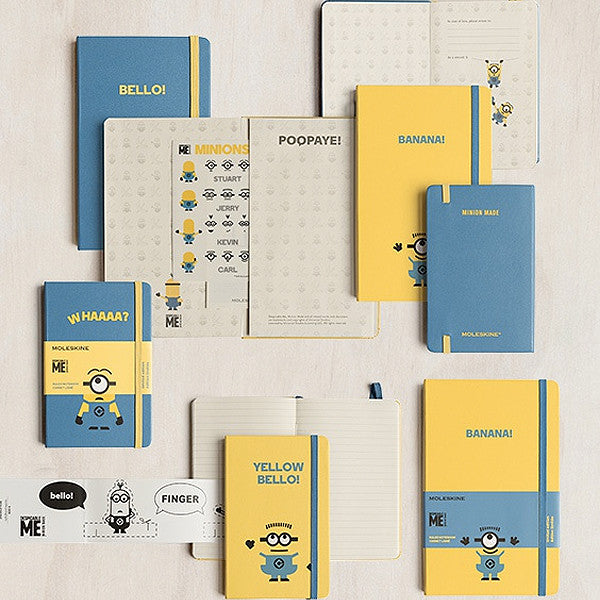 Notebook - Limited Edition Minions Moleskine Large Notebook - Blue - The Little Link