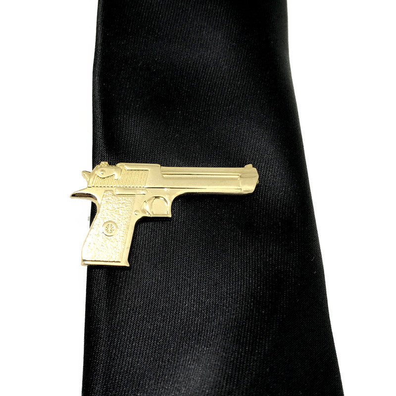 Tie Clips - Gunner Tiepin (Gold) - The Little Link