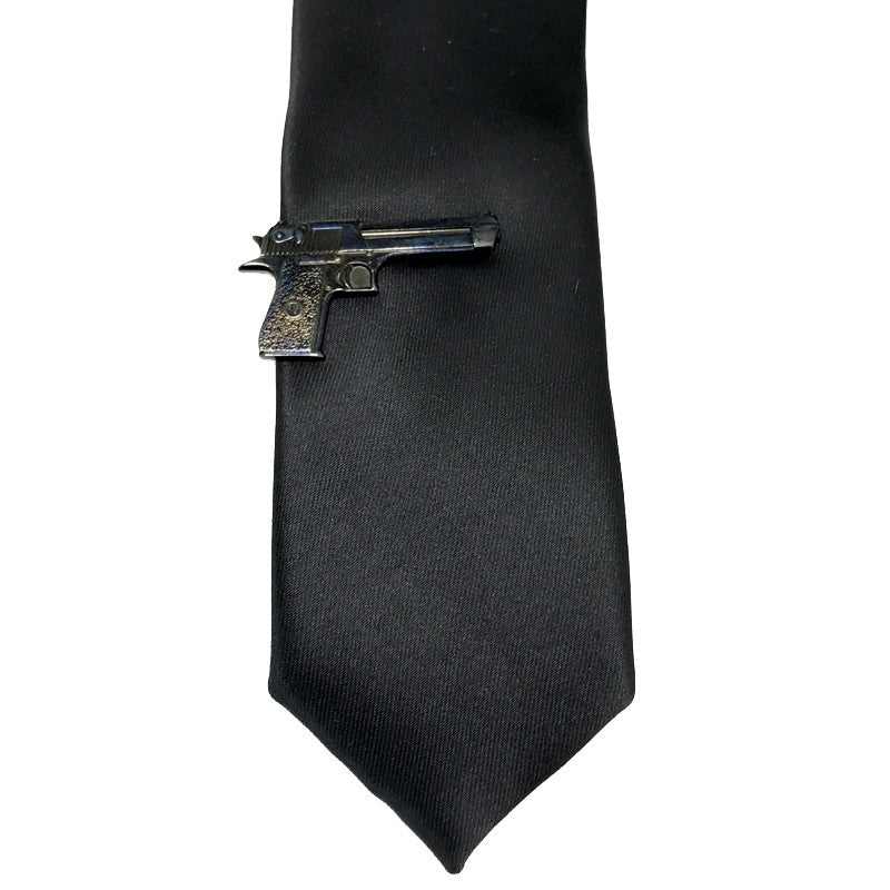 Tie Clips - Gunner Tiepin (Gunmetal) - The Little Link