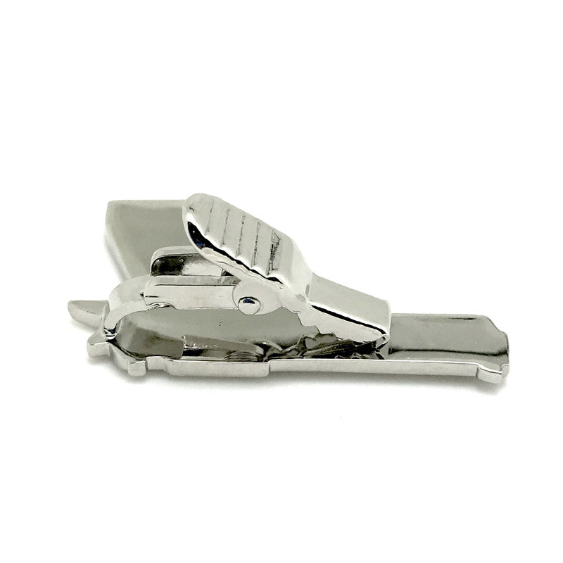 Tie Clips - Gunner Tiepin (Silver) - The Little Link