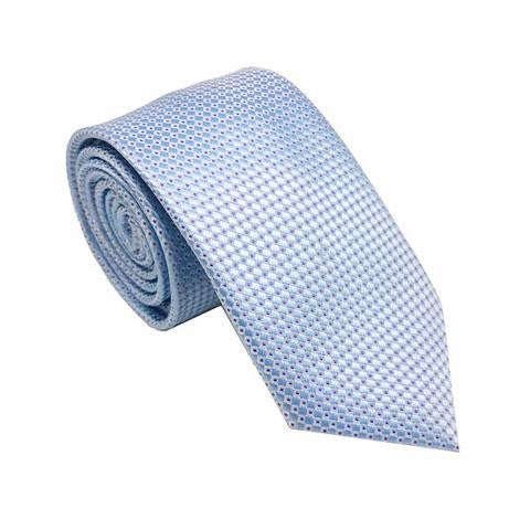 Light Blue Stripe Silk Tie - Hadley