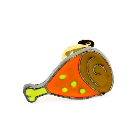 Orange Novelty Food Lapel Pin Boutonniere - Glazed Ham