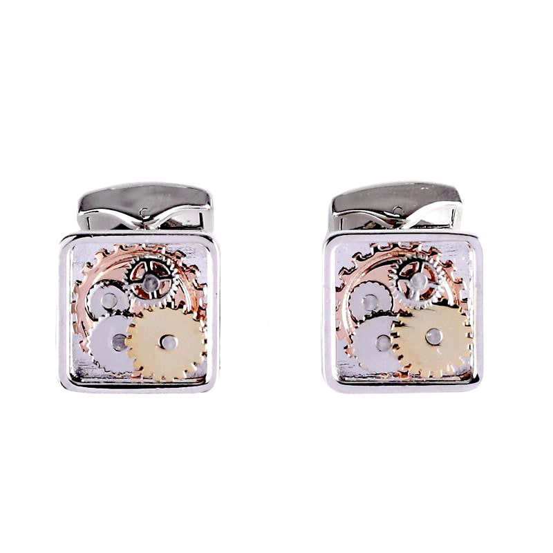 Silver Tourbillion Watch Movement Cufflinks - Anna