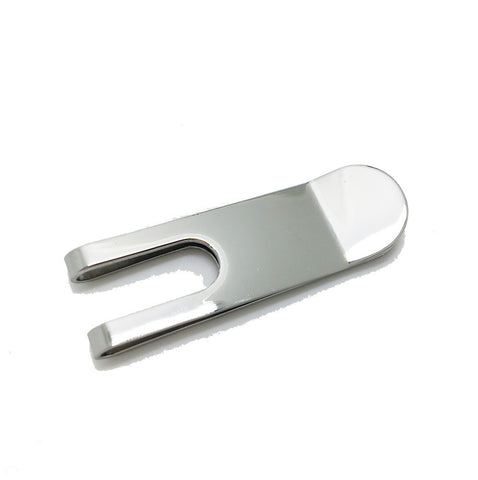 Silver Engravable Money Clip