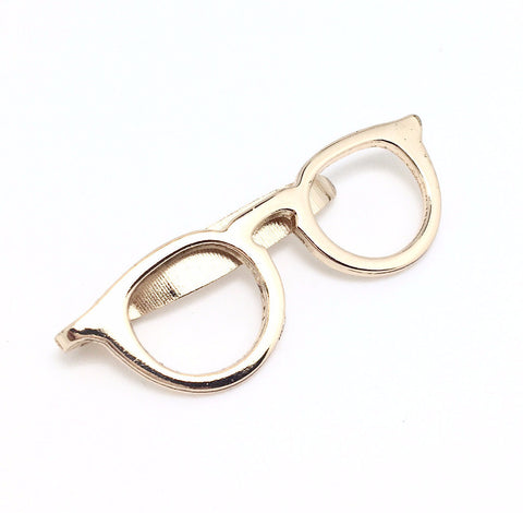 Gold Geek Spectacle Tie Clip