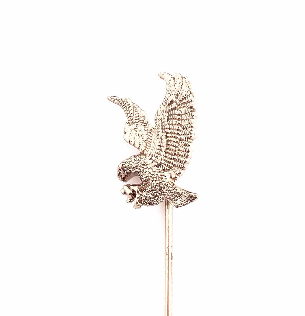 Gold Lapel Pin Boutonniere - Eagle