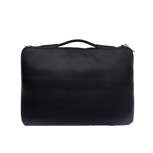 Vintage Leather Laptop Bag (Black)
