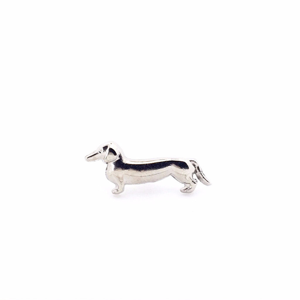 Silver Novelty Animal Collar Pin - Poodle