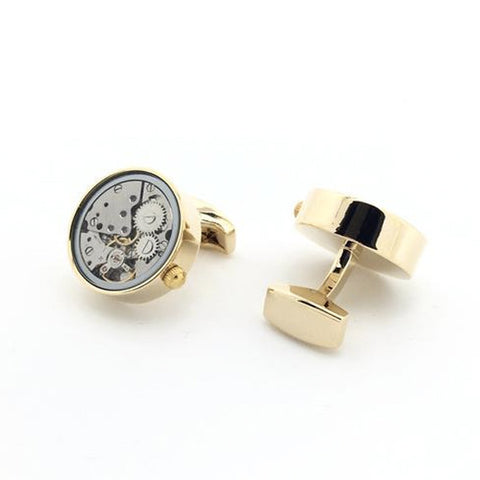 Gold Tourbillion Watch Movement Cufflinks - Marie