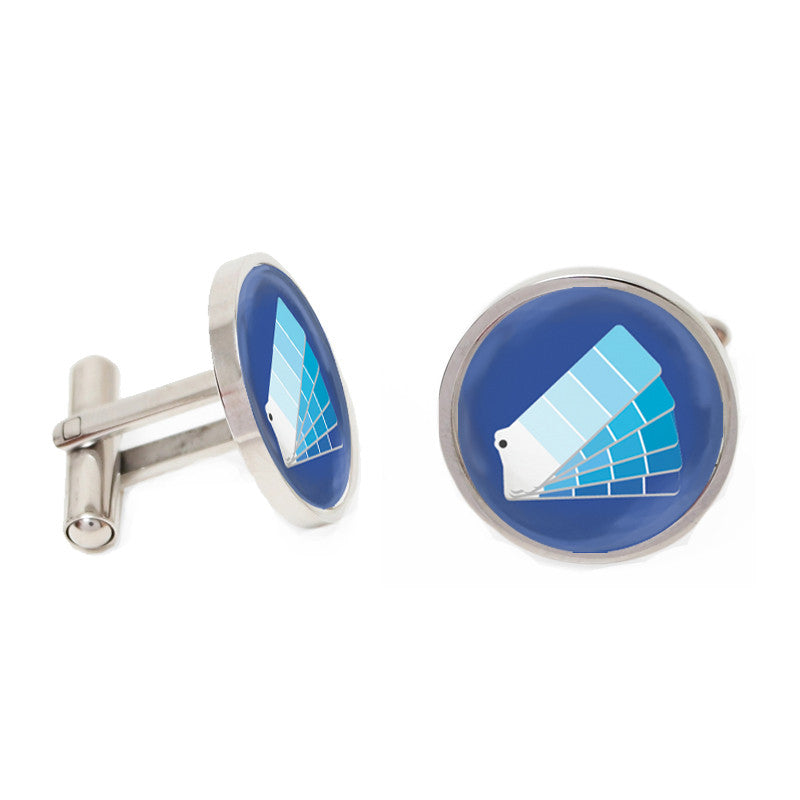 Novelty Cufflinks - Monday Blues - The Little Link