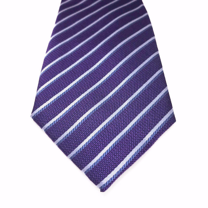 Ties - Neil Purple Silk Tie - The Little Link