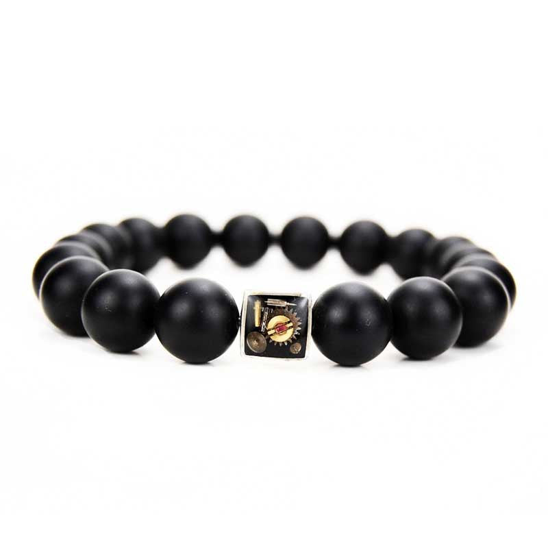 Bracelet - Onyx Bead Bracelet - The Little Link