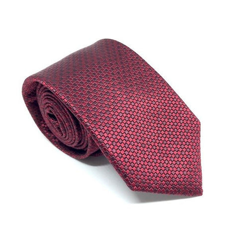 Red Checkered Silk Tie - Xander