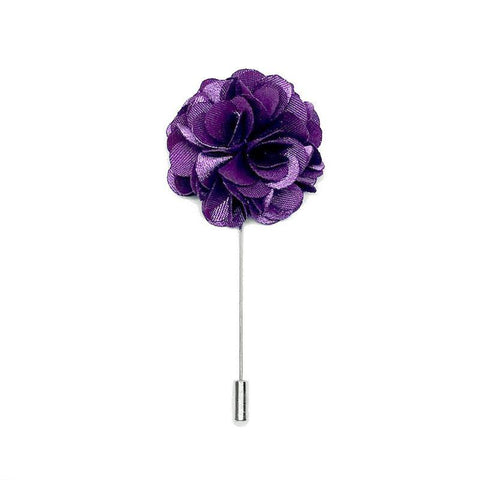 Eminence Purple Lapel Pin Rose Boutonniere