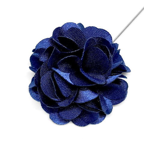 Sapphire Blue Lapel Pin Rose Boutonniere
