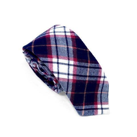 Charleston Plaid Retro Red and Black Tie