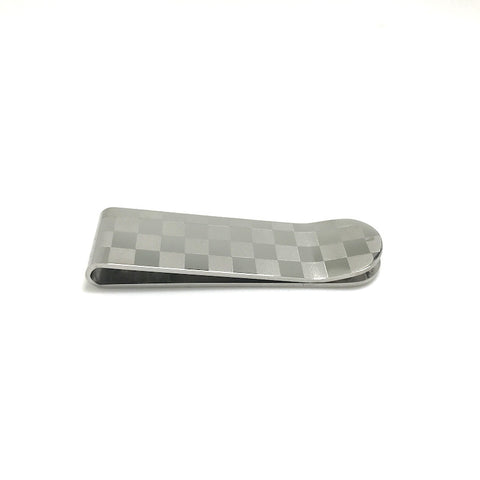 Moneyclips - Silver Checkered Money Clip - The Little Link