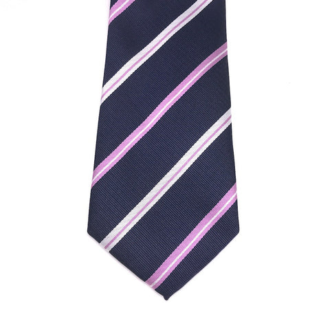 Navy and Purple Stripe Tie - Nick
