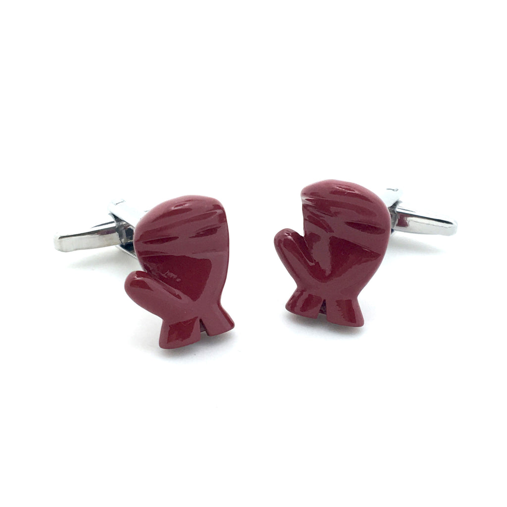 Red Sports Cufflinks - Red Boxing Gloves