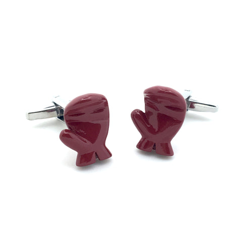 Novelty Cufflinks - Red Boxing Gloves - The Little Link