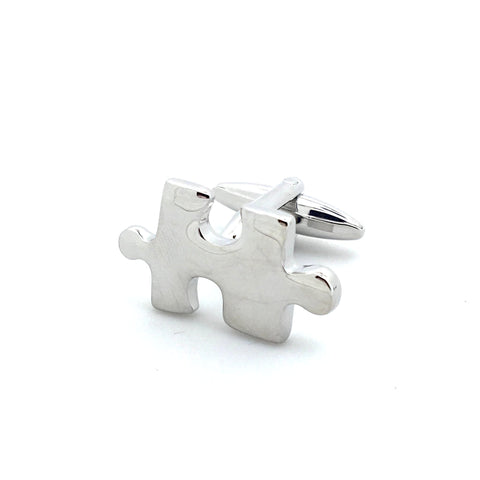 Silver Novelty Jigsaw Cufflinks - Missing You