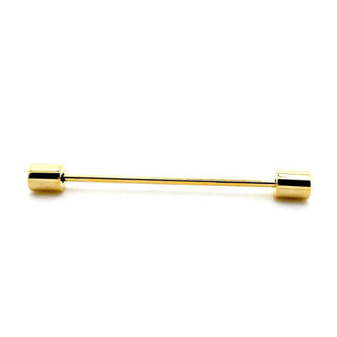 Cylinder Eyelet Collar Bar - Gold