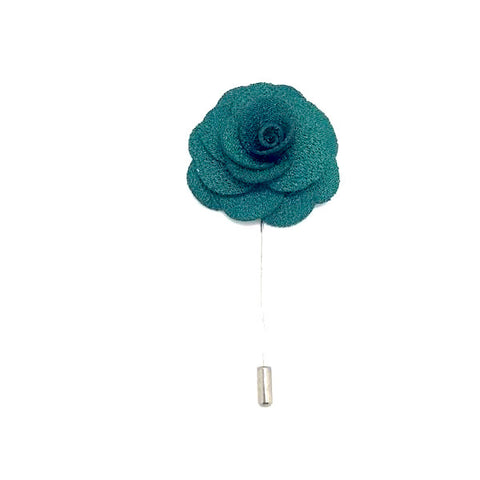 Lapel Pin Rose Green Boutonniere
