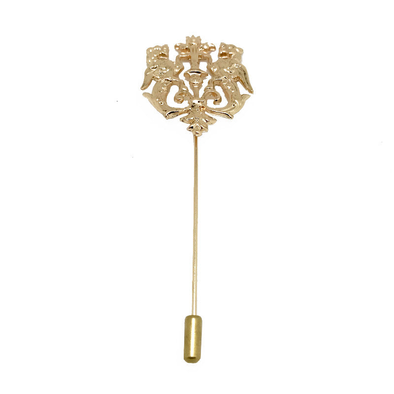 Antique / Gold Lapel Pin Boutonniere - Thrones