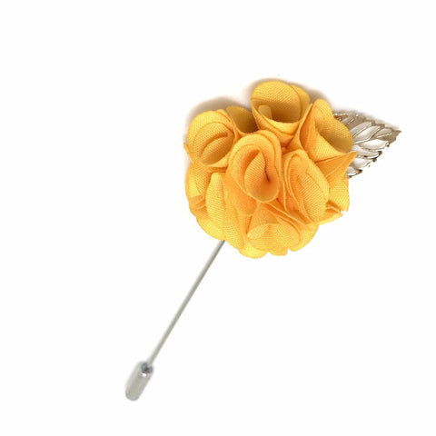 Royal Orange Lapel Rose Boutonniere