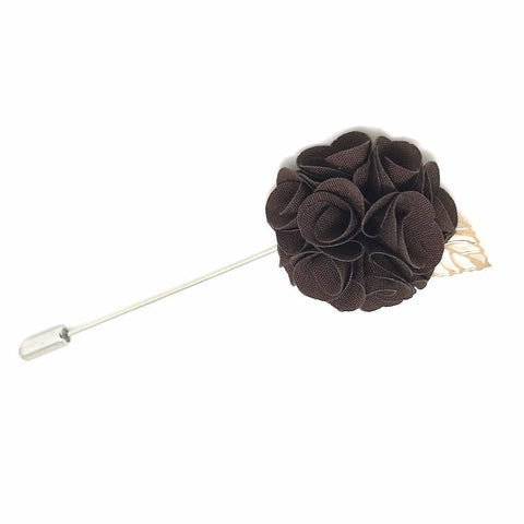 Royal Brown Lapel Rose Boutonniere