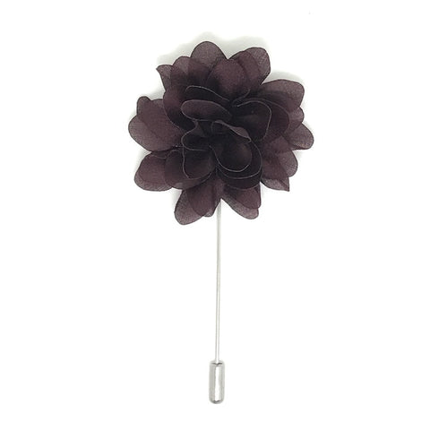 Dark Brown Lapel Flower Boutonniere