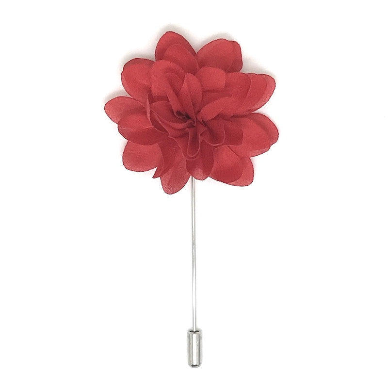 Red Lapel Flower Boutonniere