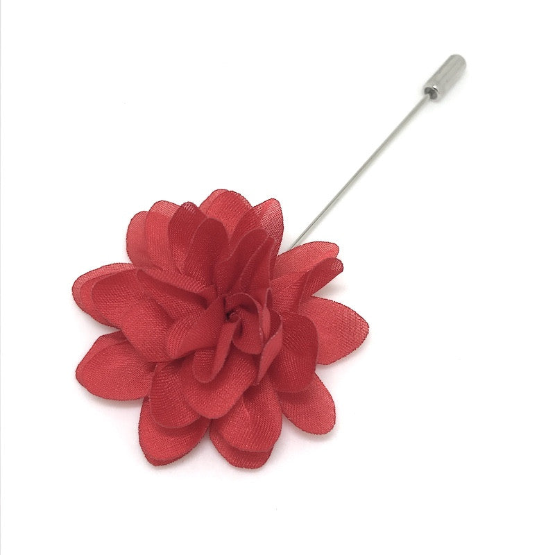 Lapel Pins - Red Lapel Flower - The Little Link