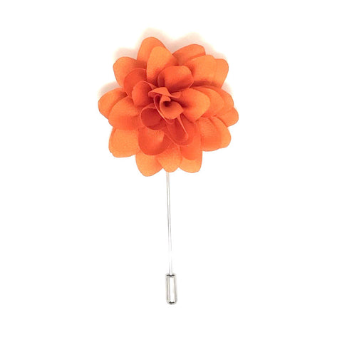 Orange Lapel Flower Boutonniere