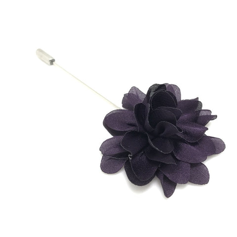 Purple Lapel Flower Boutonniere