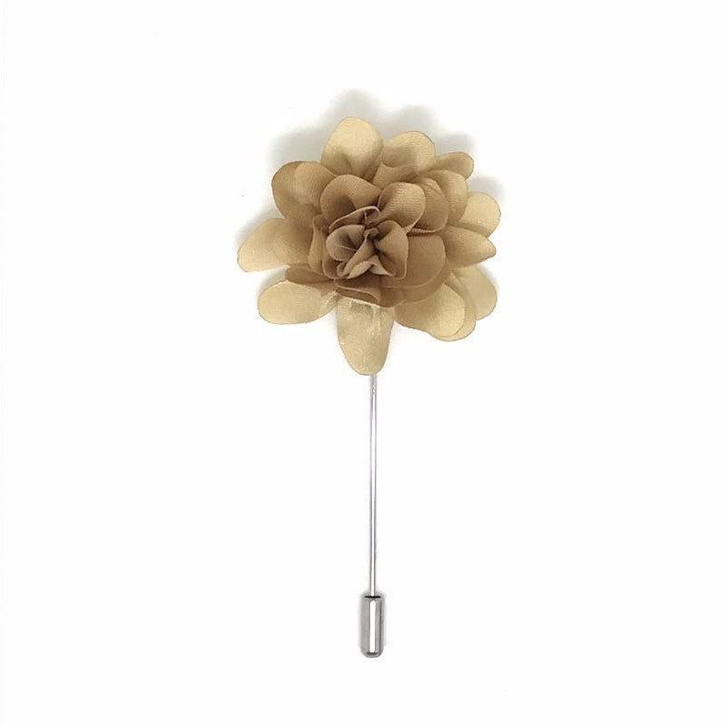 Gold Lapel Flower Boutonniere