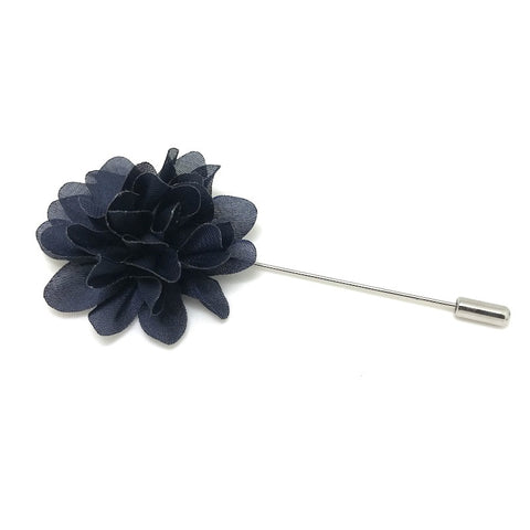 Navy Lapel Flower Boutonniere