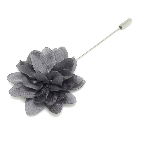 Grey Lapel Flower Boutonniere