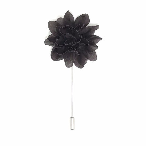 Lapel Pins - Brown Lapel Flower Boutonniere - The Little Link