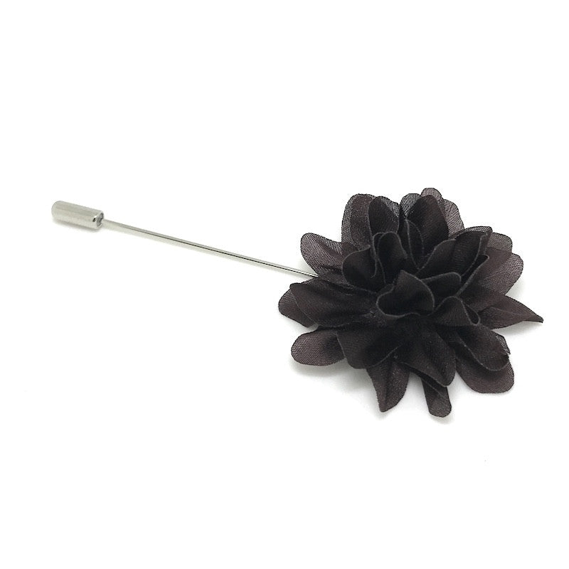 Lapel Pins - Brown Lapel Flower - The Little Link