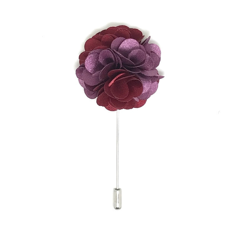 Red and Purple Lapel Rose Boutonniere
