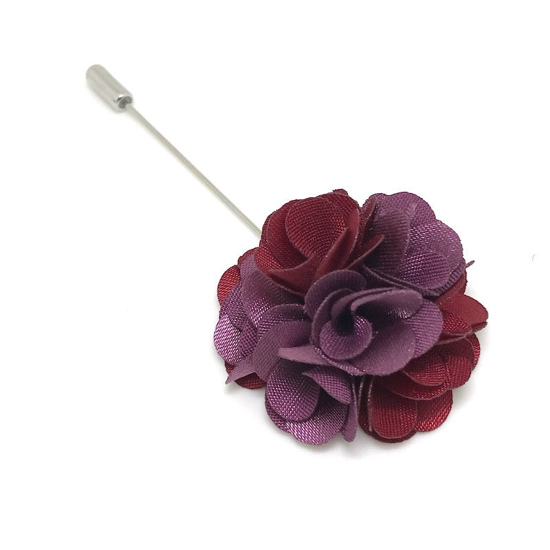 Lapel Pins - Red and Purple Lapel Rose - The Little Link